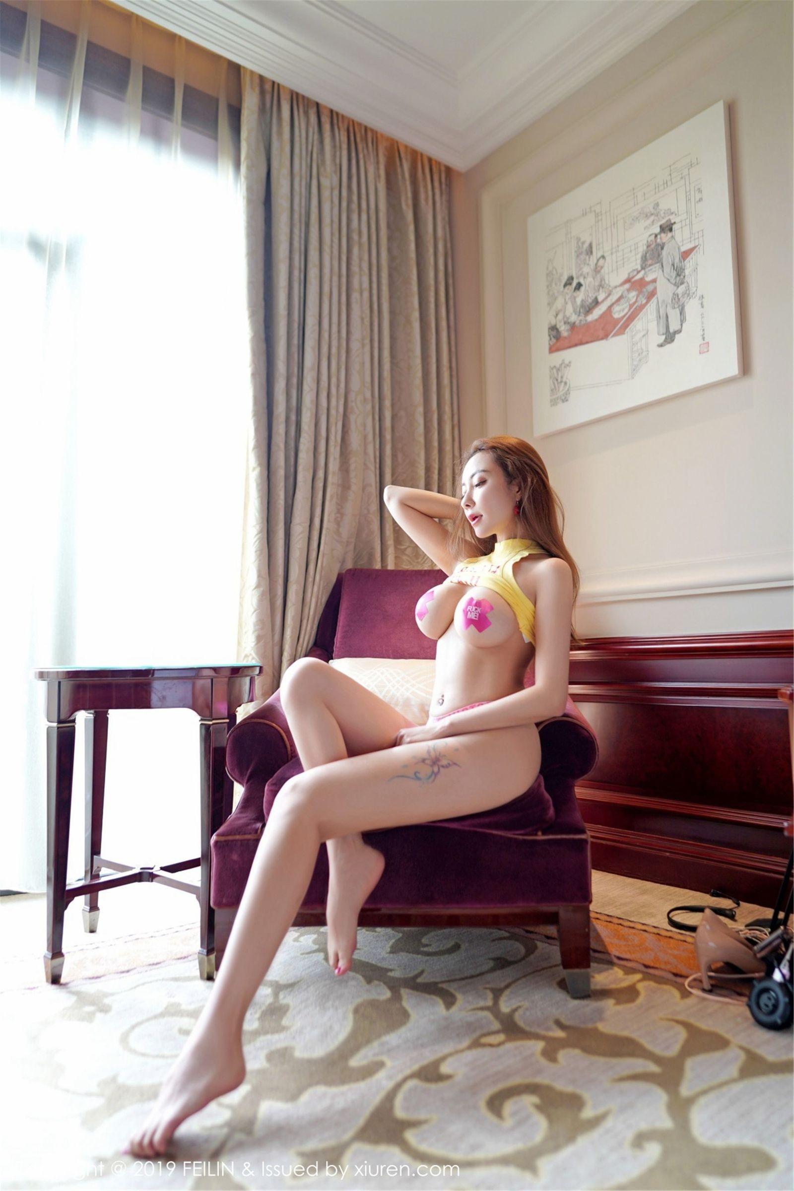[FEILIN嗲囡囡] Vol.191 御姐@果儿Victoria性感私房魅惑丝袜美图[49P]