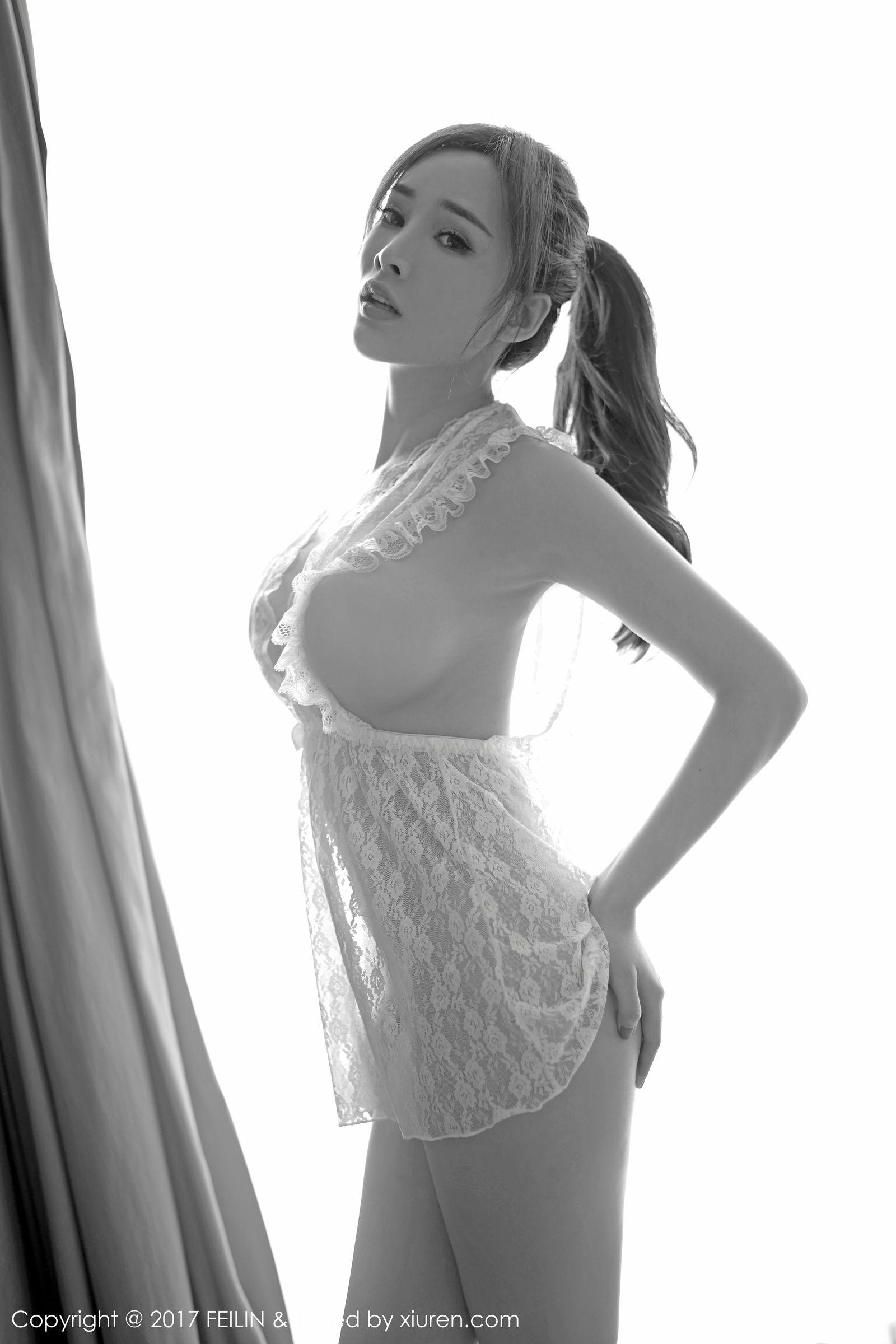 [FEILIN嗲囡囡] VOL.111 女神@土肥圆矮挫穷 最新性感丝袜美图[38P]