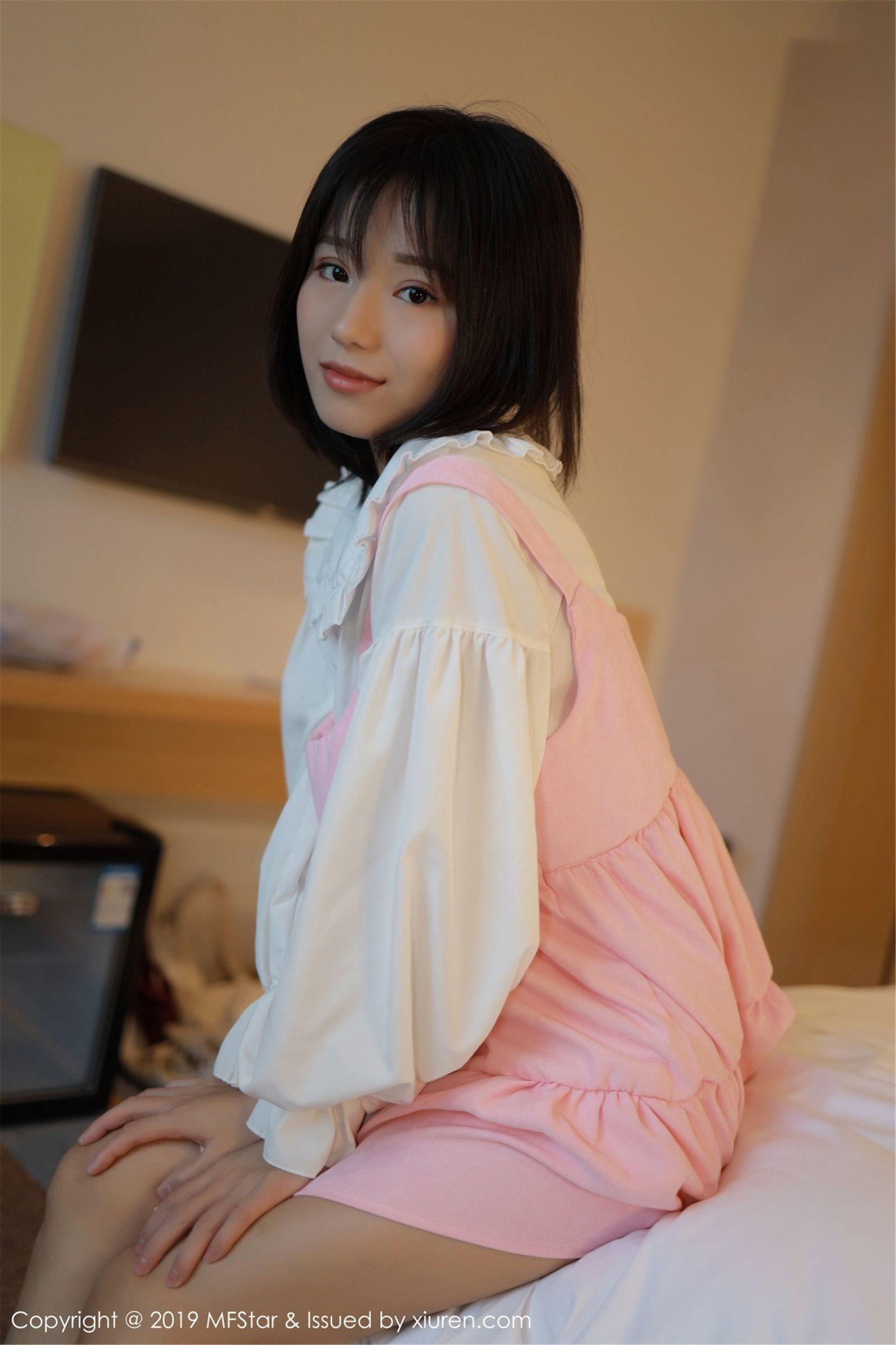 [MFStar模范学院] Vol.203 Baileys香儿 - 粉丝内衣与白衬衫系列[63P]