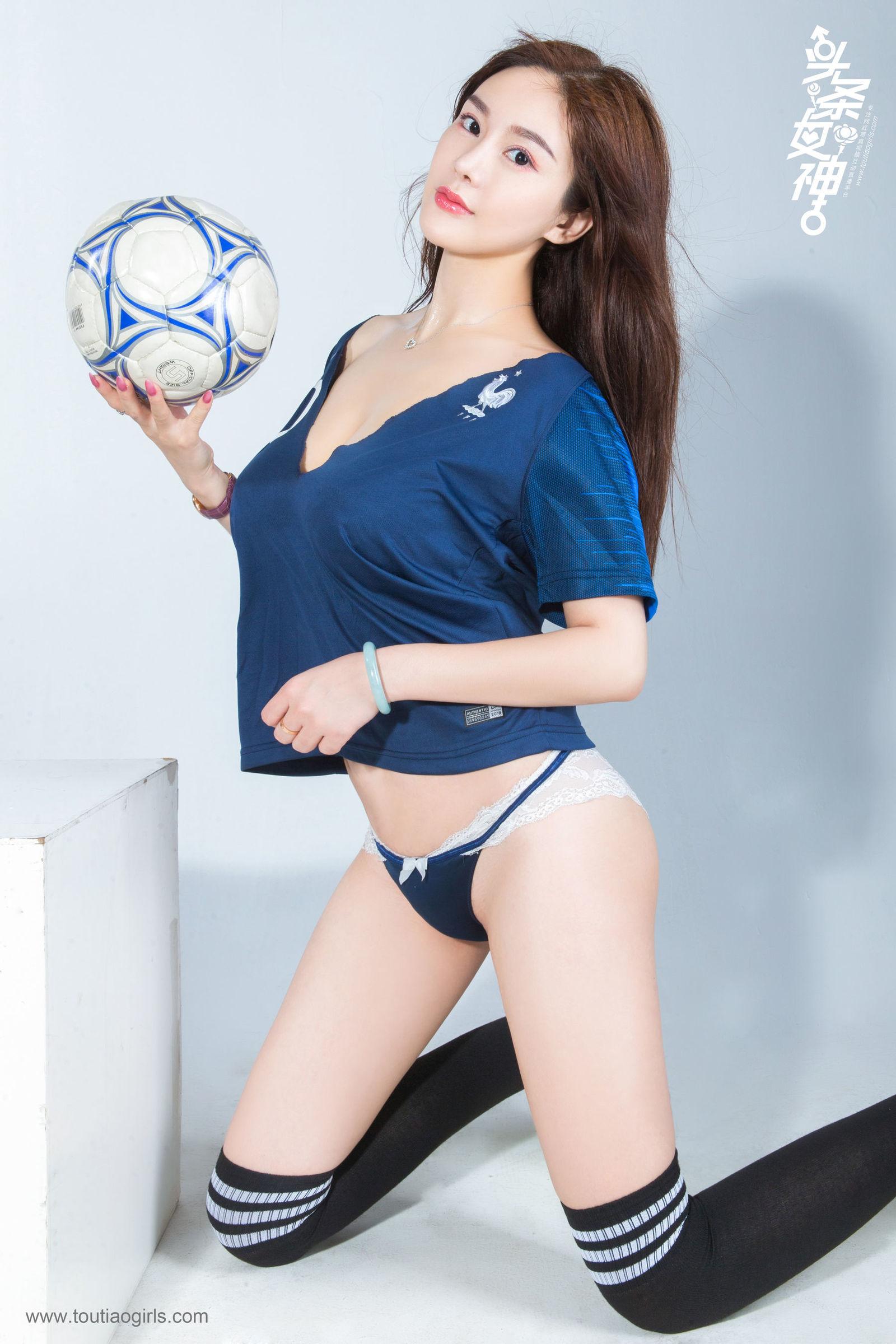 [Toutiaogirls头条女神] 易阳 - 女神预测世界杯 丝袜美图[11P]