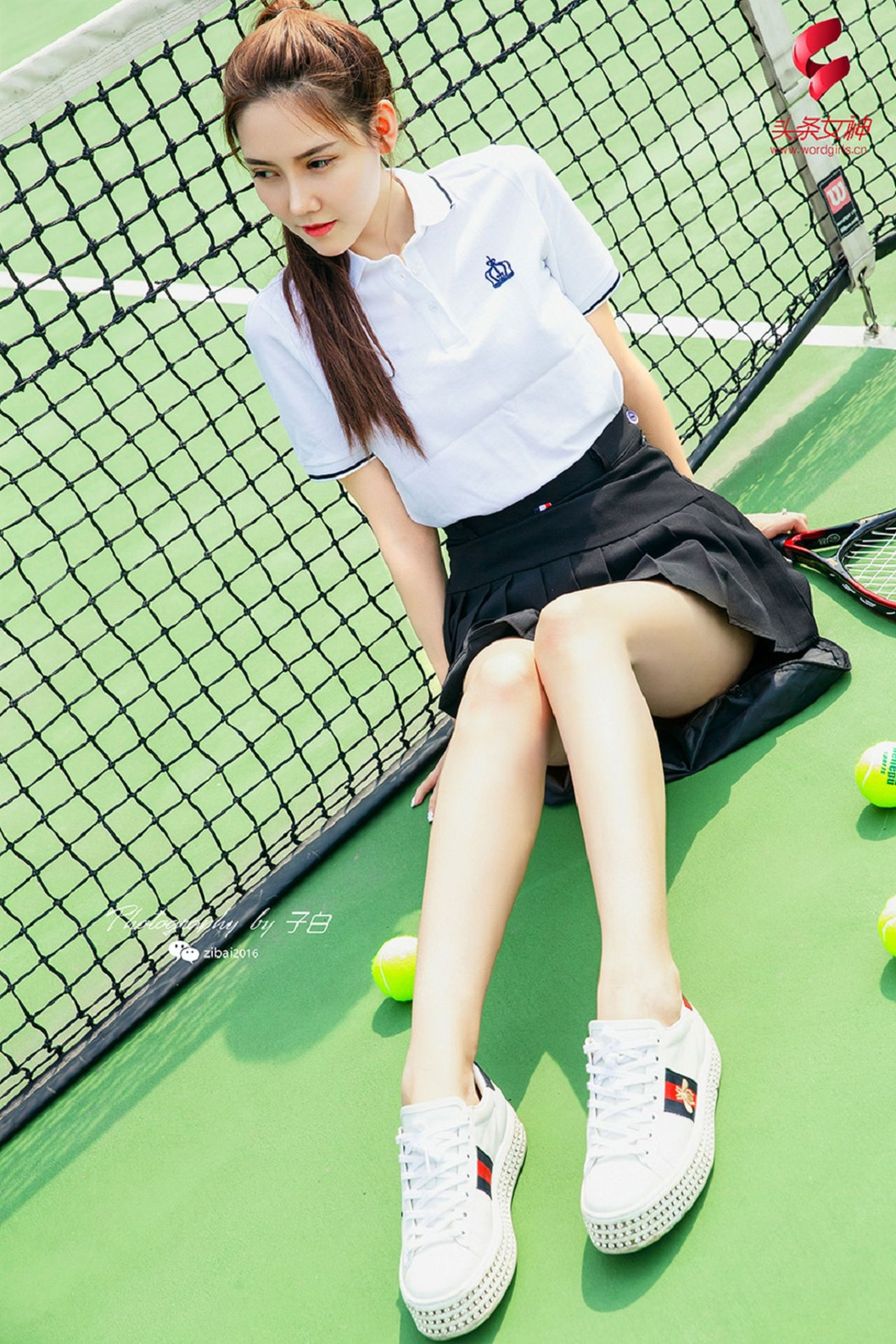 [TouTiao头条女神] 莎伦 - 我是网球美少女[22P]