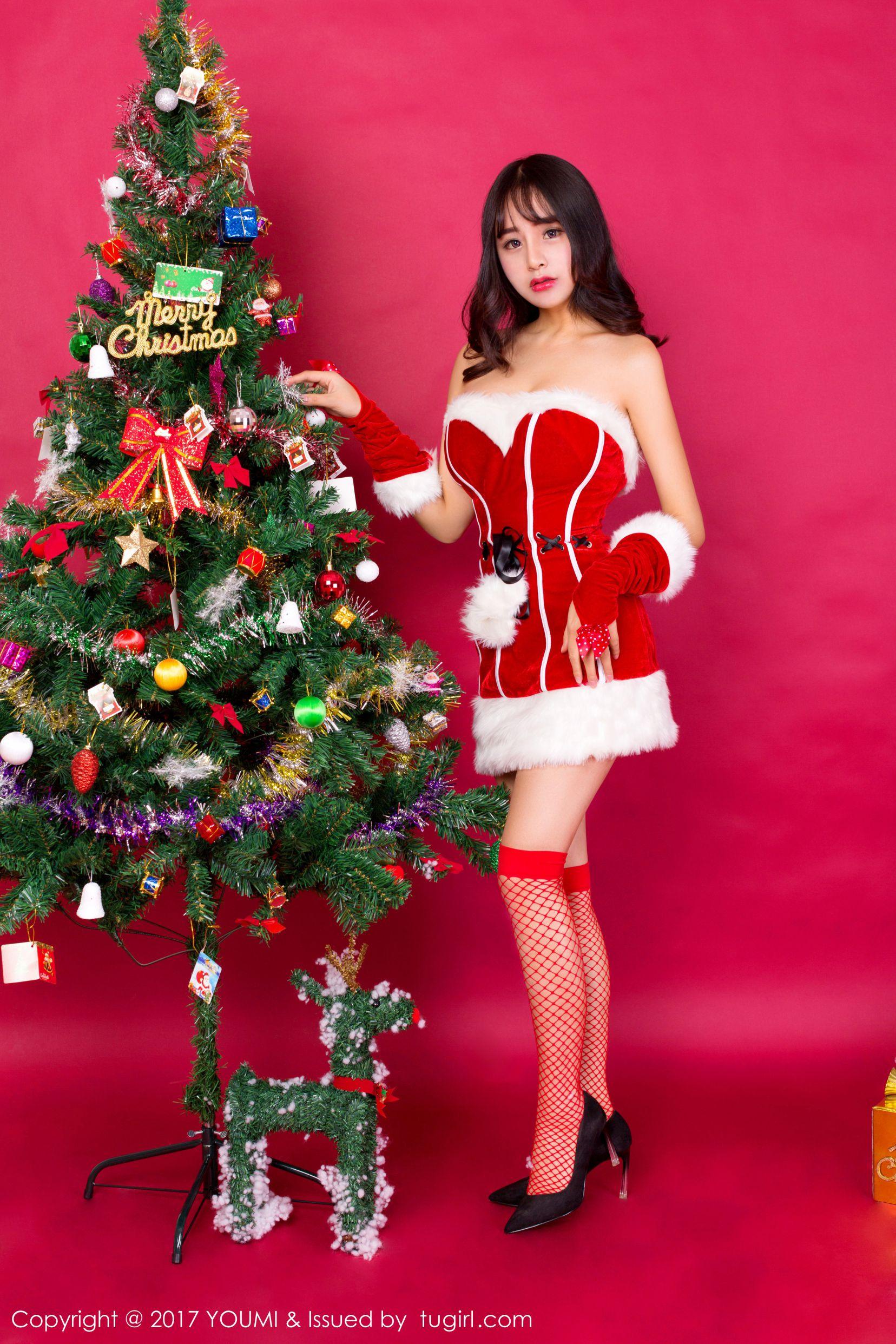 [YOUMI尤蜜荟] Vol.006 俏丽少女@思淇Sukiiii圣诞主题[40P]